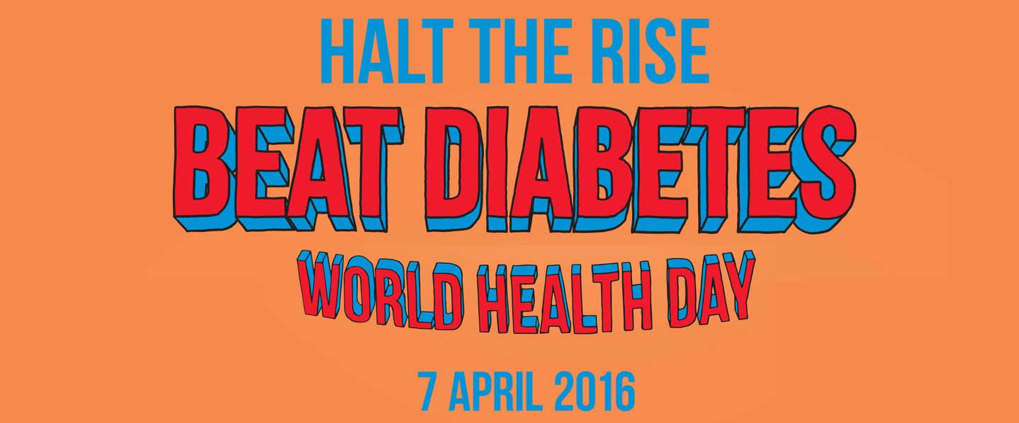 Journée mondiale de la santé - affiche OMS - Diabète 2016 - Calendovia