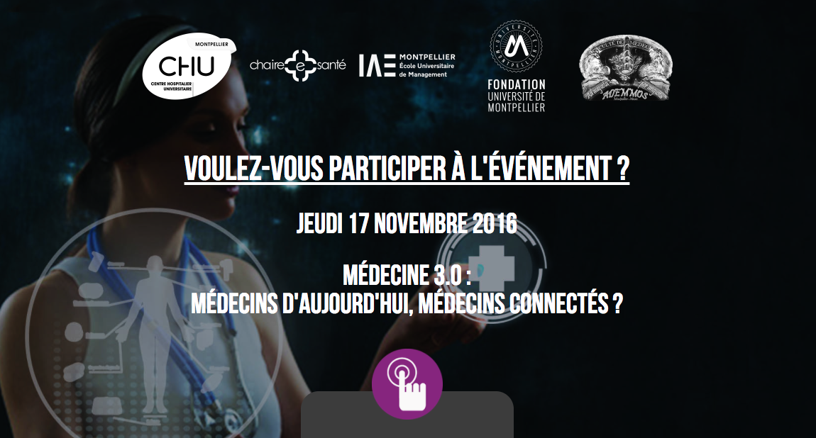 Montpellier Jeudi 17 novembre Médecins connectés